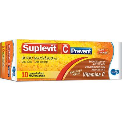 Suplevit C Ácido Ascórbico (2g) 10 Comprimidos efervescentes Prevent