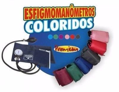Aparelho de Pressão - Esfigmomanômetro - Colorido Velcro Premium
