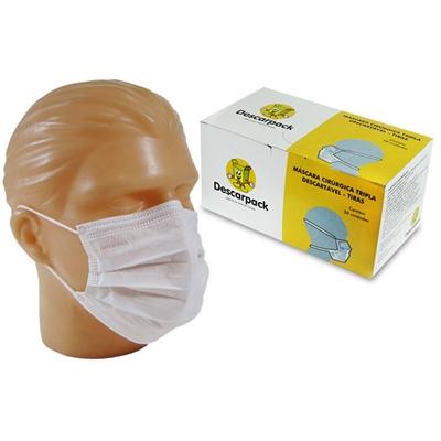 Mascara Cirurgica Tripla Descartavel Elastica