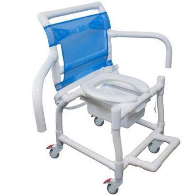 Cadeira de Banho e Higiênica PVC Braços Escamoteáveis 310CL CarciLife