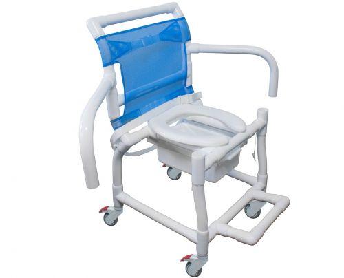 Cadeira de Banho e Higiênica PVC Braços Escamoteáveis 310CL CarciLife 1