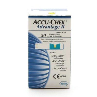Tiras Para Medidor De Glicose Accu-chek Advantage C/ 50 Unidade