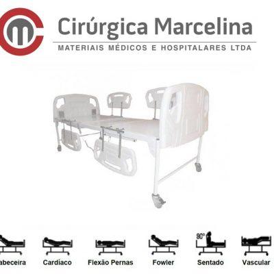 Cama Hospitalar Fawler Motorizada Tubular Luxo
