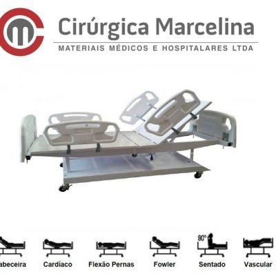Cama Hospitalar Fawler Motorizada Tubular Extra Luxo