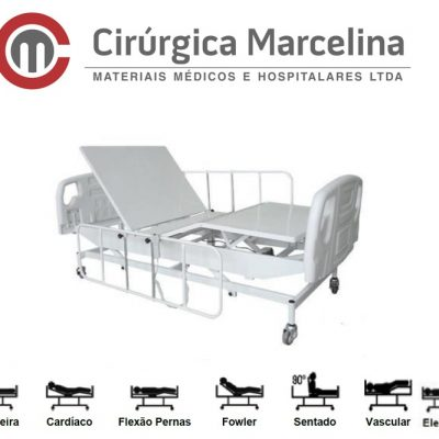 Cama Hospitalar Fawler Motorizada Elevação Super Luxo