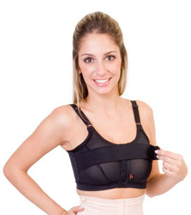 Sutiã com faixa axial, regulável nas costas e frente