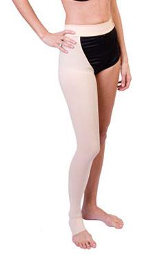 Meia para 1 perna com sustentação na cintura
