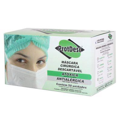 Máscara Cirúrgica Descartável - Protdesc